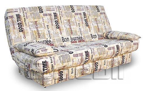 Ньюс диван 2 подушки, ППУ Ткань газета A32972