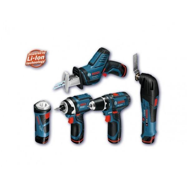 Набор из пяти аккумуляторных инструментов Bosch 10,8 V-LI (в кейсе L-Boxx)