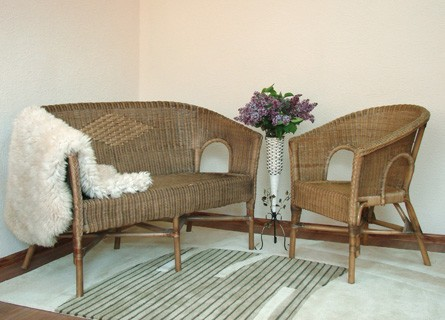 Набор Престиж 1-диван-2 кресла-ротанг