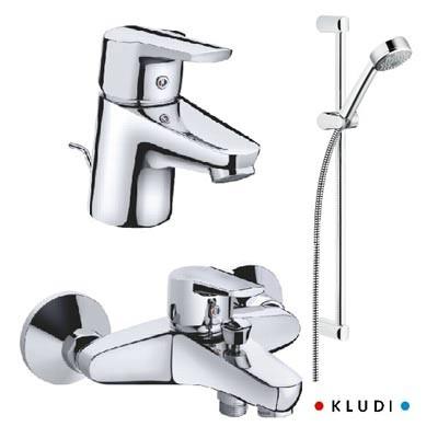 Набор смесителей Kludi D-Vise 3 в 1 для ванной