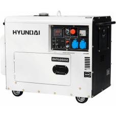 Надежный дизельный генератор HYUNDAI DHY 6000 SE Хундай, в кожухе, мощность 5,5 кВт