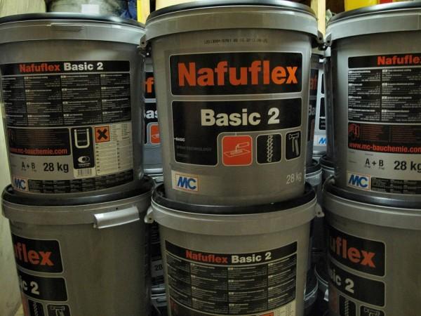 NAFUFLEX -2K еластична бітумно-каучукова мастика для гідроізоляції фундаментів