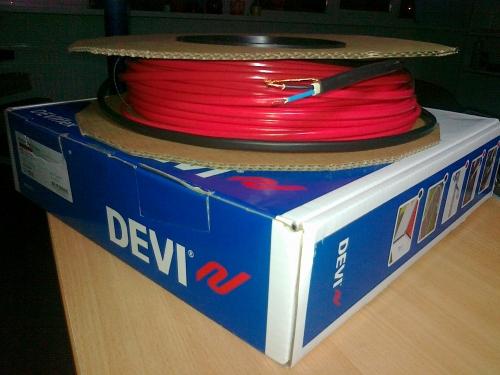 Нагревательный кабель двухжильный DTIP-18 90 м