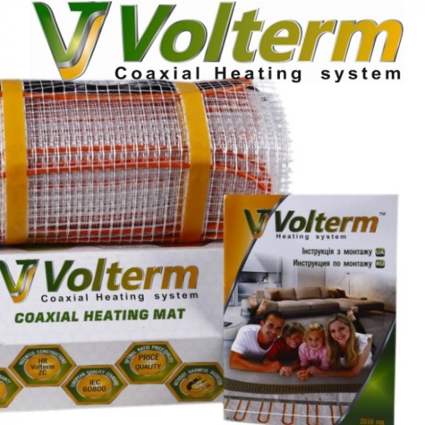Фото 1 Теплый пол электрический нагревательный мат Volterm 337445