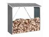 Фото  1 Накрытие для дров металлическое серый с белым 2091942