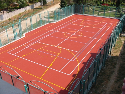 Наливные полиуретановые покрытия для игровых видов спорта