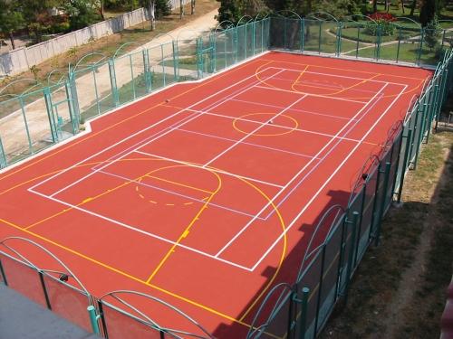 Наливные полиуретановые покрытия для спортивных площадок, теннисных кортов, баскетбола, футбола