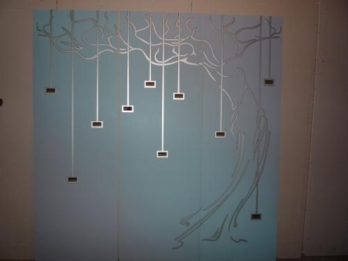 Нанесение рисунка на стекло(зеркало)