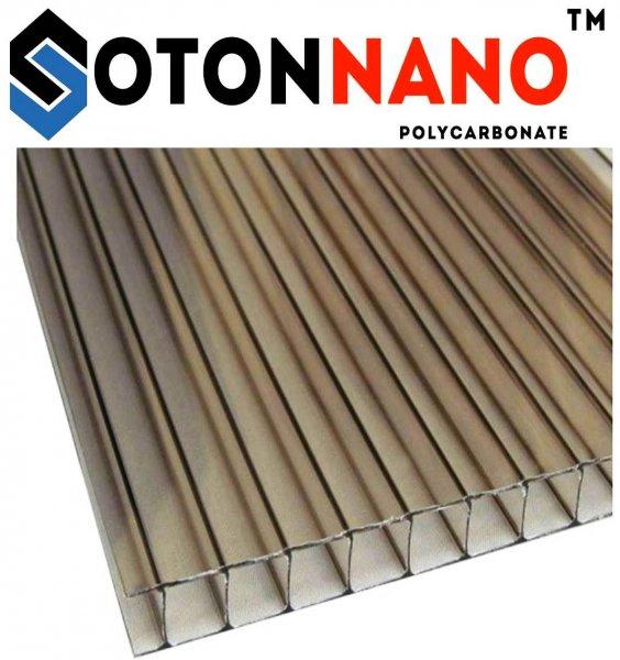 Фото 1 Сотовый поликарбонат SOTON NANO 4-10 мм. (прозрачный/бронзовый) 341647