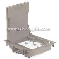 Напольная коробка с глубиной 75-105 мм -неукомплектованная - 12 модулей, под покрытие - бежевый RAL 1019