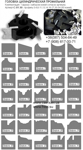 Насадные пазовые фрезы (для фрезерных станков) и концевые пазовые