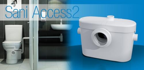 Насос-измельчитель SANIACCESS 2 для принудительной канализации для подключения унитаза и умывальника.