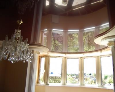 Натяжные потолки MIRROR. Лаковые /более 80 оттенков/. Быстрый, чистый монтаж.