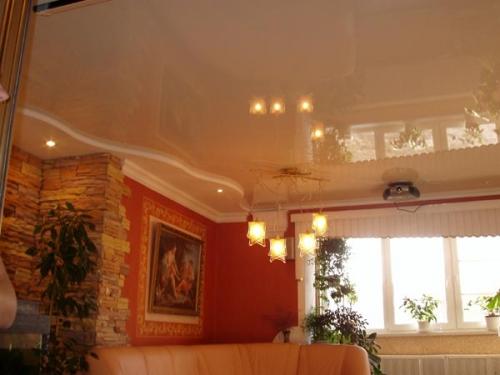 Натяжной потолок, производства Германия (глянец)