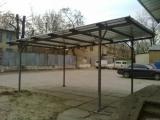 Навес для авто из профнастила односкатный. Любой размер. скидка действует до 31. 04. 2012 года.
