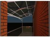 Навес накрытие стекло на нержавеющих креплениях для офиса, дома, балкона Стеклянный навес под ключ