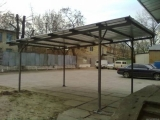 Навесы для авто из профнастила односкатный 3,4 х 6 м скидка действует до 31. 04. 2012 года.