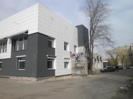 Навесной вентилируемый фасад Альбатрос- комбенированый с утеплением 100 мм (кассеты и профнастил декоратив ные планки)