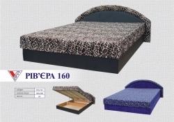 """Недорогая кровать двуспальная раскладная с лаконичным простым дизайном """"Ривьера"""" 160."""