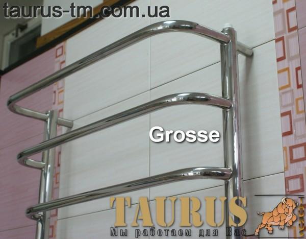 Нержавеющий полотенцесушитель Grosse 6/3 450 мм. Размеры под заказ. Покраска в любой цвет.