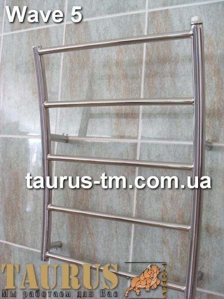 Нержавеющий полотенцесушитель Wave 5 (540 мм / 450 мм). Доставка по Украине от 1 штуки. Покраска.
