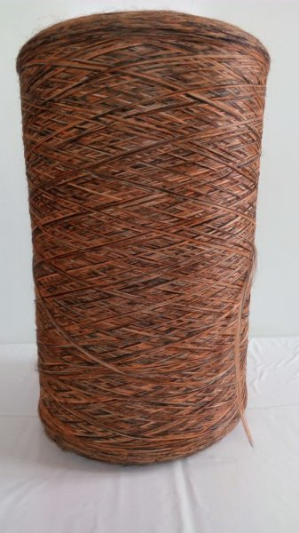 Фото  1 Нитка для оверлока килимів меланж коричнево-помаранчевий 2134547