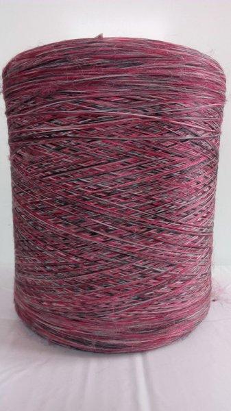 Фото  1 Нить для оверлока ковров меланж красно-черно-белый 2134549