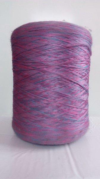 Фото  1 Нить для оверлока ковров меланж розово-синий 2134604