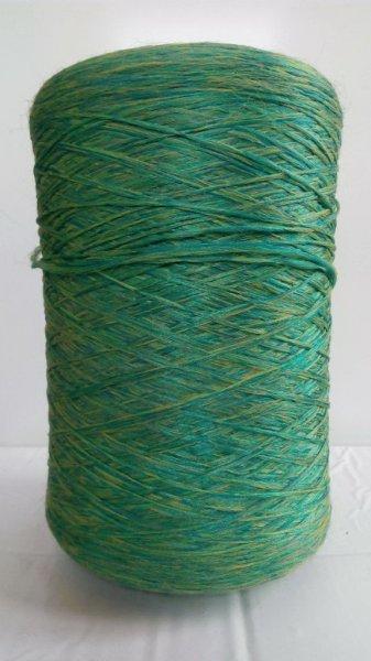 Фото  1 Нитки для оверлока ковров меланж зелено-желтый 2134576