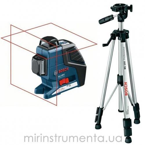 Нивелир лазерный (GLL 2-80 P + BS 150 + вкладка под L-Boxx) Bosch 0601063205