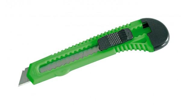 Ніж висувний 150мм сегментний 18мм простий (зелений) MEGA