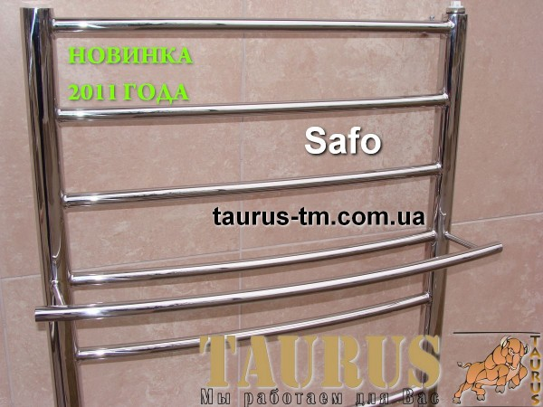 Новый полотенцесушитель Safo 5 / 450 мм.Наличие дополнительных полочек.