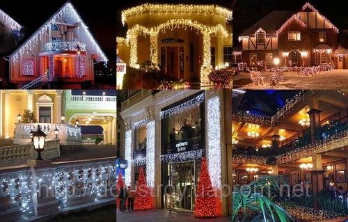 Новогоднее оформление зданий
