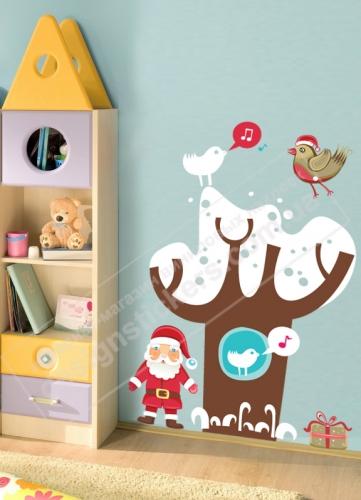 """Новогодняя наклейка """"Дед Мороз"""". Прекрасный подарок или идея оформления интерьера к празднику!"""