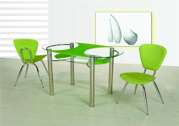 Обеденные стеклянные столы B180-3 зеленый, красный, шампань, зеленый, черный, белый купить Украине