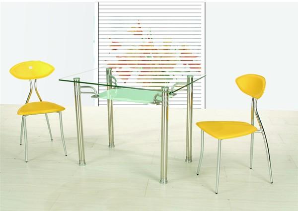 Обеденные стеклянные столы B66 для кухни, небольшие кухонные столы B66 из стекла
