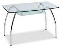 Обеденные столы B156, стеклянные столы B156 Украина, столы стеклянные B156 Киев, стеклянные столы