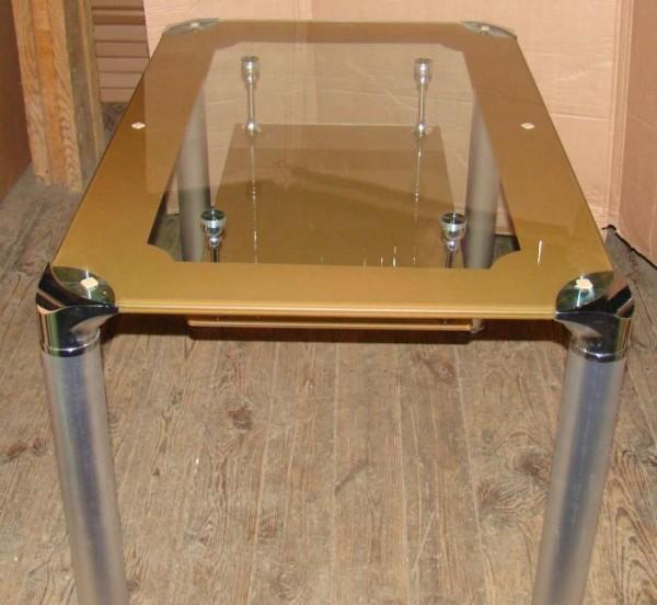 Обеденные столы B206-2 черный, топленное молоко Киев, кухонные столы B206-2, стеклянные столы B206-2