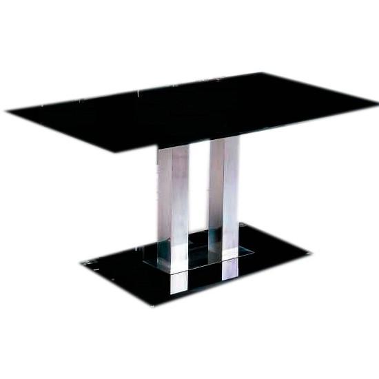 Обеденный стеклянный стол Аврора, стекло черного цвета