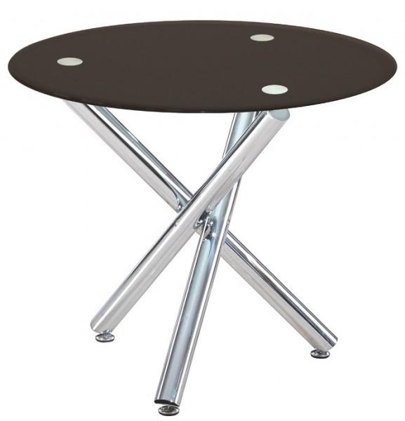 Обеденный стол Дезире, куруглый стеклянный стол для кафе бара, ресторана, дома, офиса