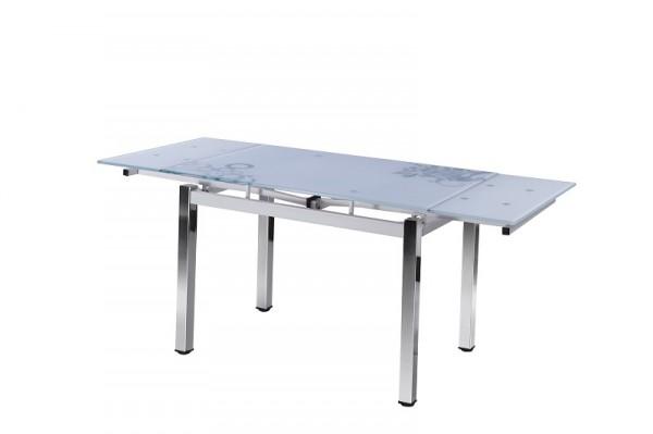 Обеденный стол Флер, раздвижной стеклянный стол Флер Украина