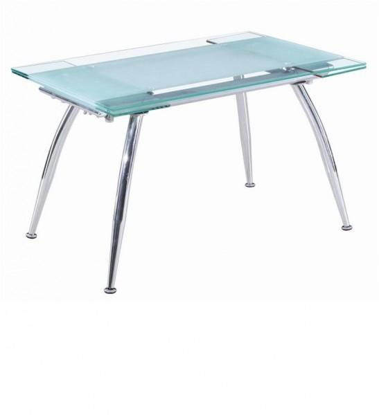Обеденный стол раздвижной стеклянный траснформер Веста