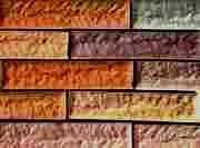 "ОБЛИЦОВОЧНЫЙ КАМЕНЬ""КИРПИЧ ГРОССЕНХАЙН"" 11 камней: 240 х 50 х 15 2 половинки"