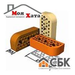 Облицовочный кирпич фасонный СБК 250*120*65 ВФ8 светло-жёлтый