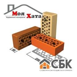 Облицовочный кирпич СБК 250*90*65 КЛГ-12 коричневый