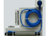 Обогрев труб,кабель двужильный  фторопластовый безмуфтовый со встроенным термостатом  и вилкой 10 Вт/м Hemstedt FS 9м.