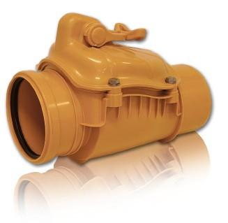 Обратный клапан ПВХ для безнапорной внешней канализации D 110 Pestan
