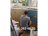 Обшивка балкона деревянной вагонкой. Монтаж внутренней обшивки.