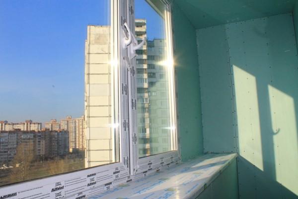 Обшивка балкона влагостойким гипсокартоном цена 250 грн. зак.