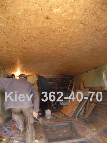 Обшивка гаража ОСБ панелями. Киев. Только работа.
